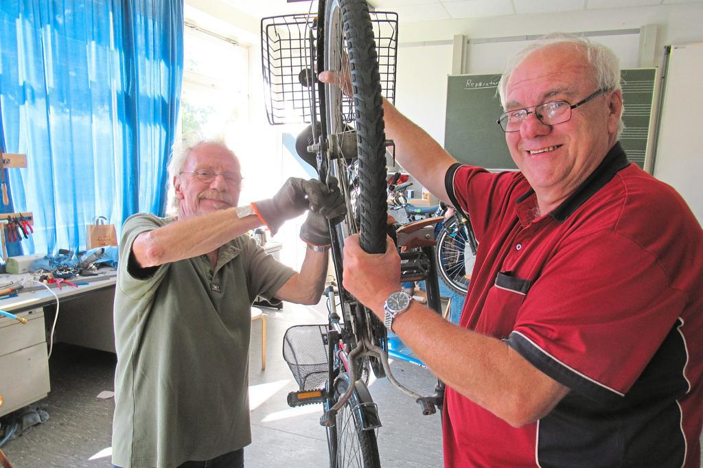 Fahrradwerkstatt öffnet wieder – Dickes Lob für die Ehrenamtler