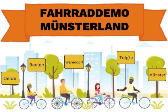 Ankündigung: Fahrraddemo Münsterland